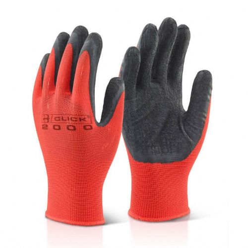 Click Multi Purpose Polyester Grip Gloves - 100 Pairs